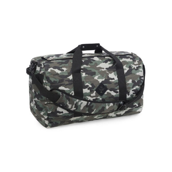 The Around Towner Black Camo Medium Duffle Bag by Revelry Supply UK
