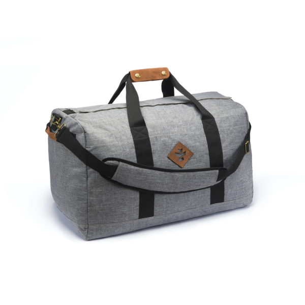 The Around Towner Crosshatch Grey Medium Duffle Bag by Revelry Supply UK