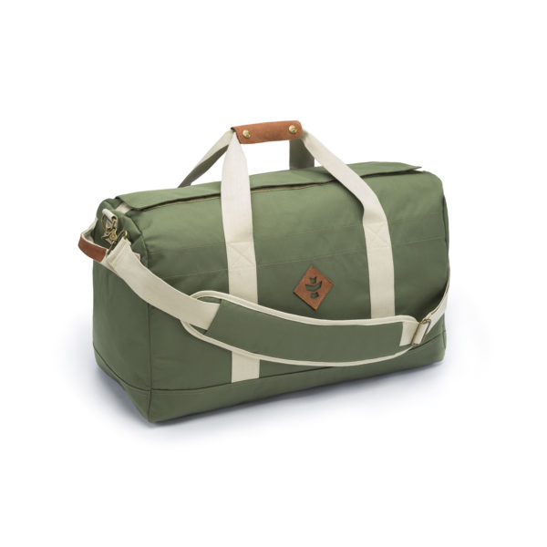 The Around Towner Green Medium Duffle Bag by Revelry Supply UK