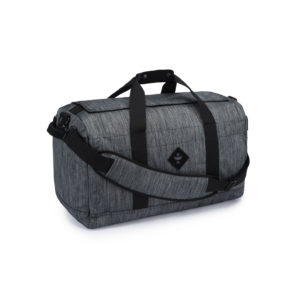 The Around Towner Striped Dark Grey Medium Duffle Bag by Revelry Supply UK