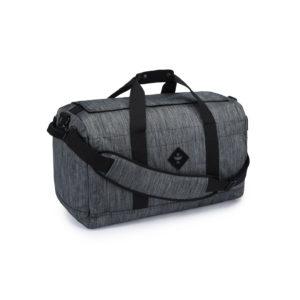 The Around Towner Striped Dark Grey Medium Duffle Bag by Revelry Supply UK