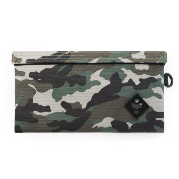 The Confidant Small Black Camo Money Bag by Revelry Supply UK