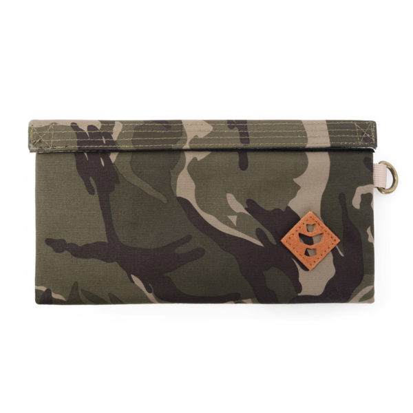 The Confidant Small Brown Camo Money Bag by Revelry Supply UK