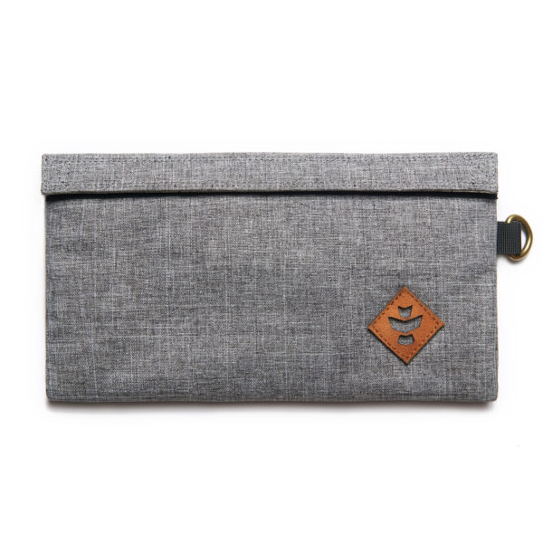 The Confidant Small Crosshatch Grey Money Bag by Revelry Supply UK