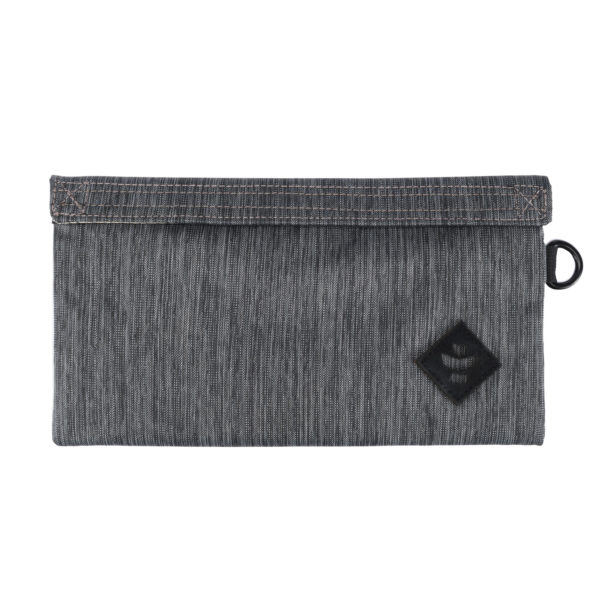 The Confidant Small Striped Dark Grey Money Bag by Revelry Supply UK