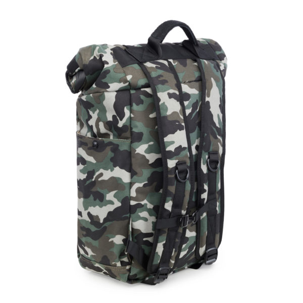 The Drifter Black Camo Rolltop Backpack Bag by Revelry Supply UK