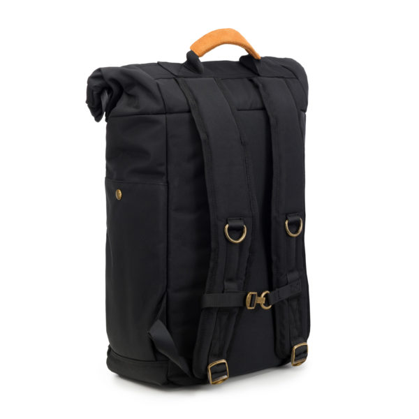 The Drifter Black Rolltop Backpack Bag by Revelry Supply UK