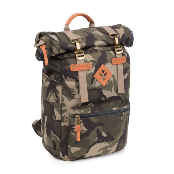 The Drifter Brown Camo Rolltop Backpack Bag by Revelry Supply UK