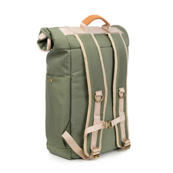 The Drifter Green Rolltop Backpack Bag by Revelry Supply UK
