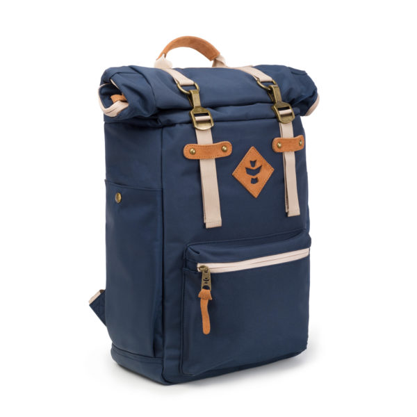 The Drifter Navy Blue Rolltop Backpack Bag by Revelry Supply UK
