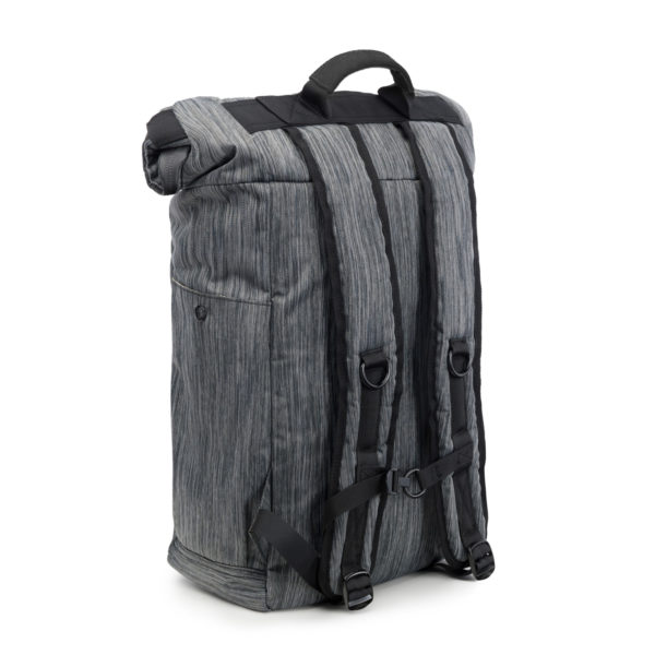 The Drifter Striped Dark Grey Rolltop Backpack Bag by Revelry Supply UK