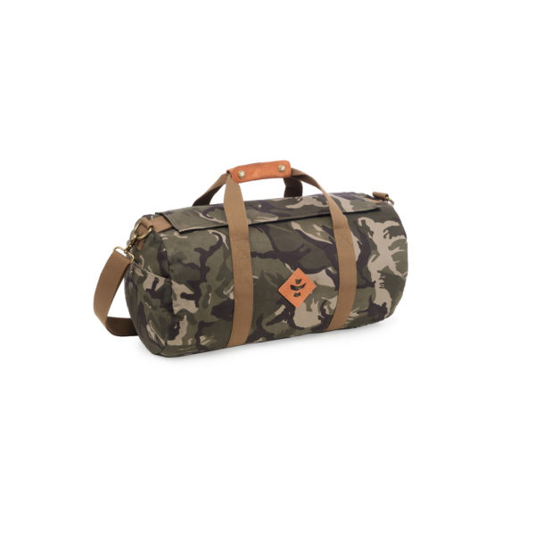The Overnighter Small Brown Camo Duffle Bag by Revelry Supply UK