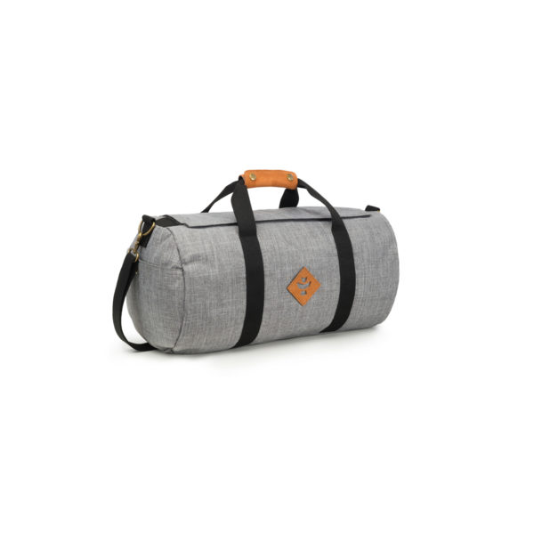 The Overnighter Small Crosshatch Grey Duffle Bag by Revelry Supply UK