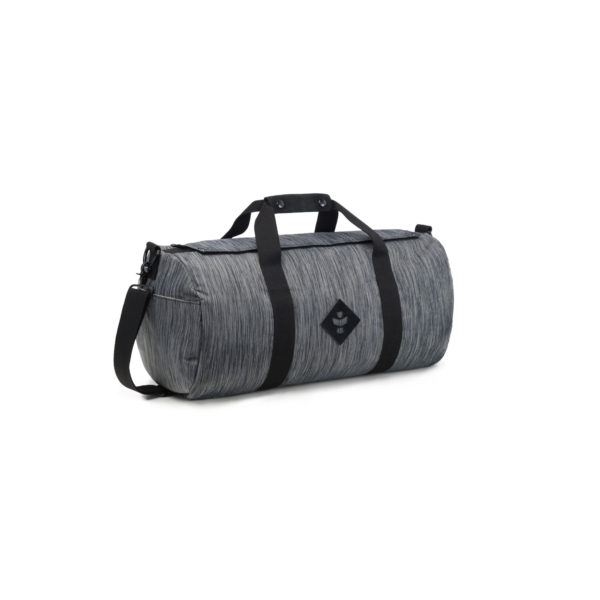 The Overnighter Small Striped Dark Grey Duffle Bag by Revelry Supply UK