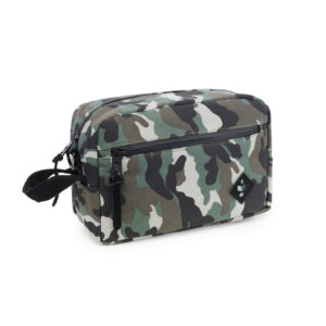 The Stowaway Black Camo Toiletry Wash Bag by Revelry Supply UK
