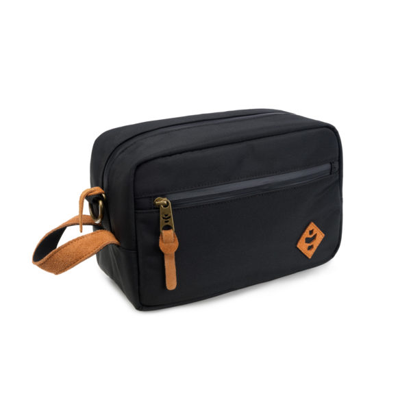 The Stowaway Black Toiletry Wash Bag by Revelry Supply UK