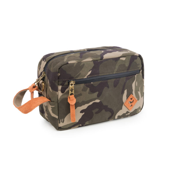 The Stowaway Brown Camo Toiletry Wash Bag by Revelry Supply UK