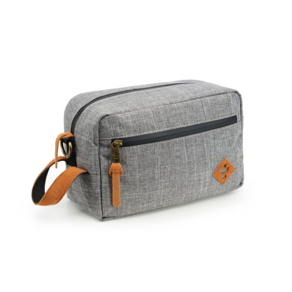 The Stowaway Crosshatch Grey Toiletry Wash Bag by Revelry Supply UK