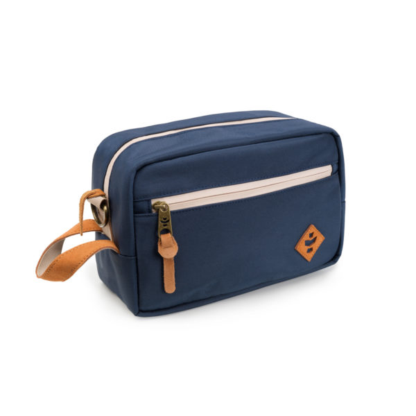 The Stowaway Navy Blue Toiletry Wash Bag by Revelry Supply UK