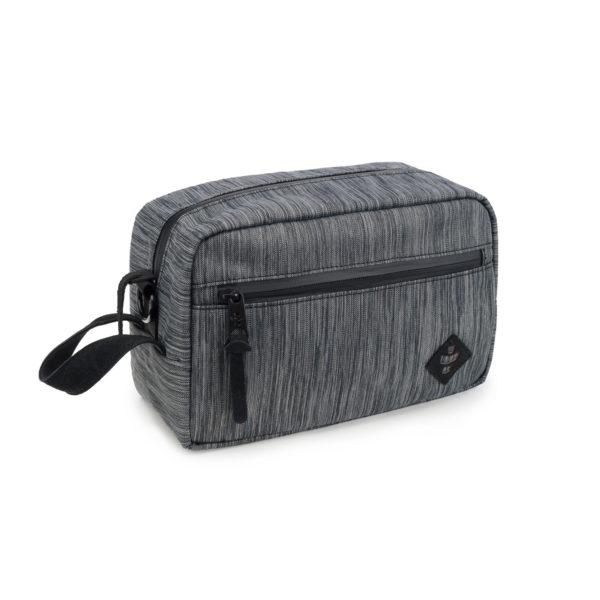 The Stowaway Striped Dark Grey Toiletry Wash Bag by Revelry Supply UK